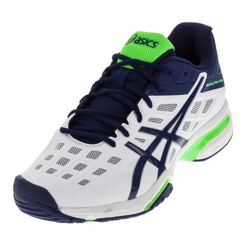 Men's Gel- Solution Lyte 3 Tennis Shoes White And Indigo Blue