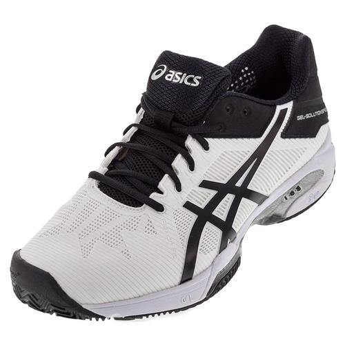 Men's Gel- Solution Slam 3 Tennis Shoes White And Black