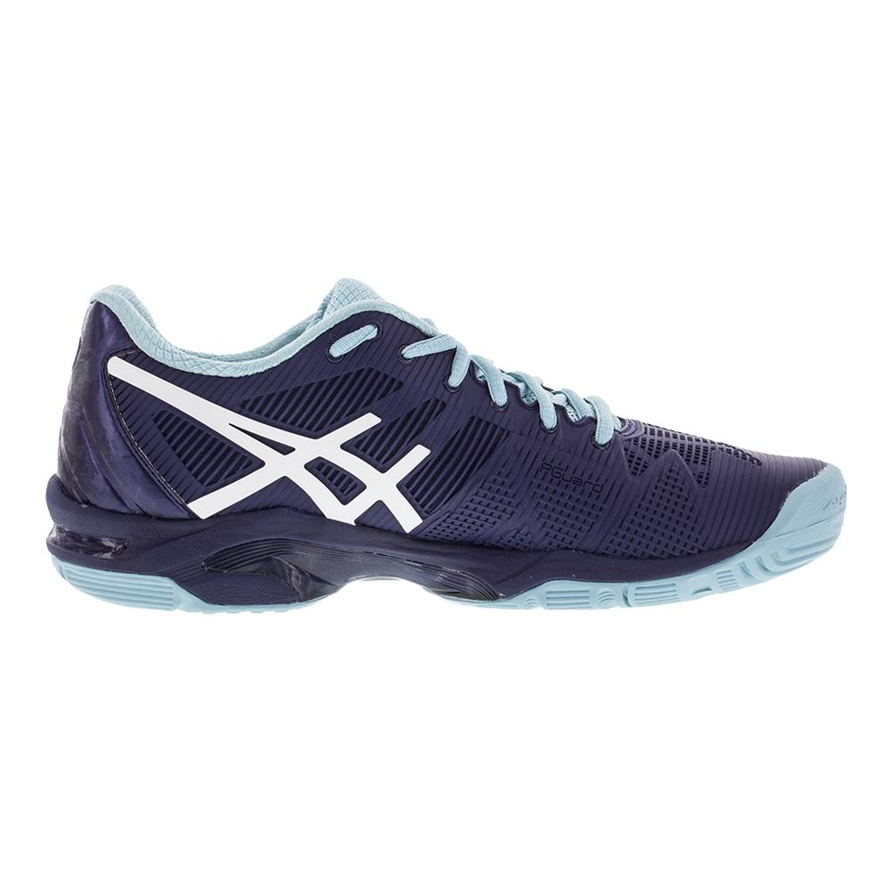 96a5785257 ASICS Women's Gel-Solution Speed 3 Tennis Shoes in Indigo Blue and White