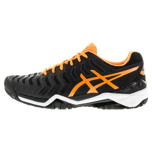 asics s gel resolution 7 tennis shoes black and