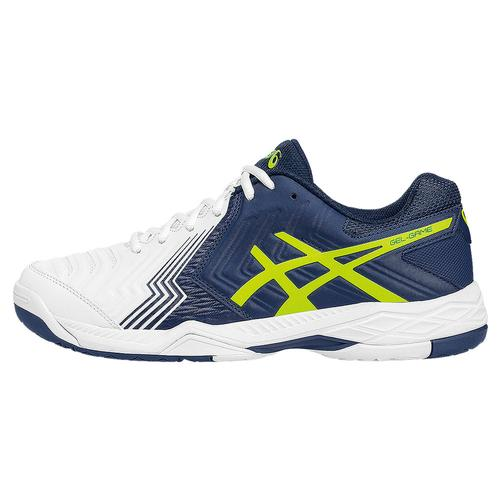 Men's Gel- Game 6 Tennis Shoes White And Indigo Blue