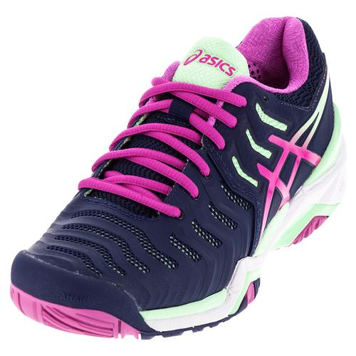 ASICS Et Tennis Gel Resolution 13147 7 Chaussures De Tennis Bleu Indigo Et Rose 9a420c7 - gerobakresep.website