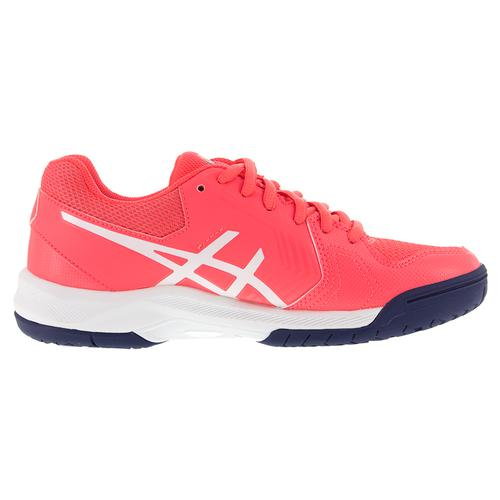 asics s gel dedicate 5 tennis shoes pink and white