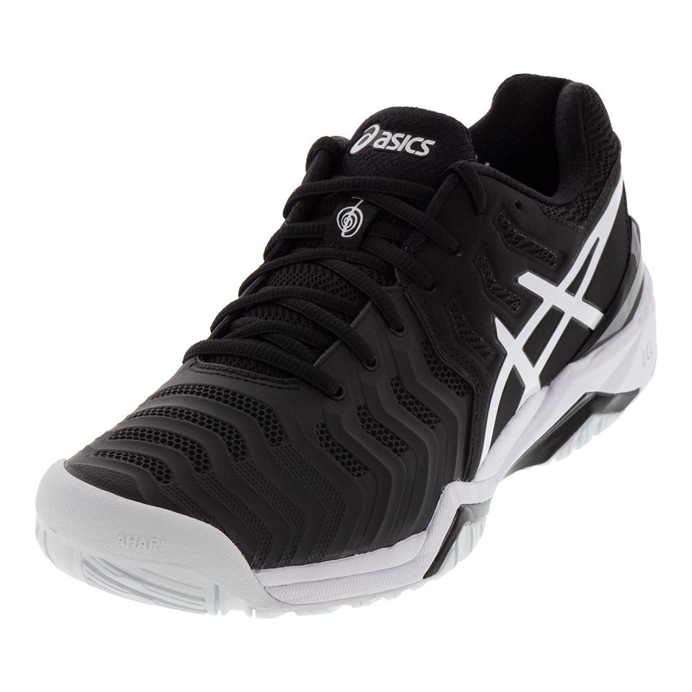 Men's Gel- Resolution 7 Novak Djokovic Tennis Shoes Black And White