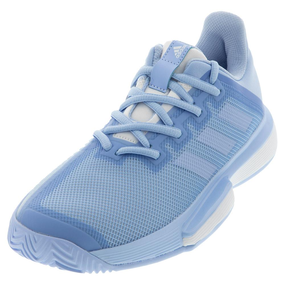 Women's Solematch Bounce Tennis Shoes Glow Blue And White