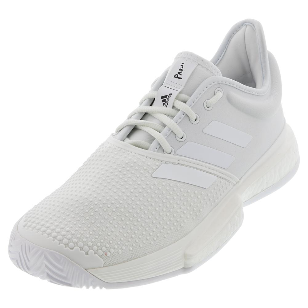 Men's Solecourt Boost Parley Tennis Shoes White And Core Black