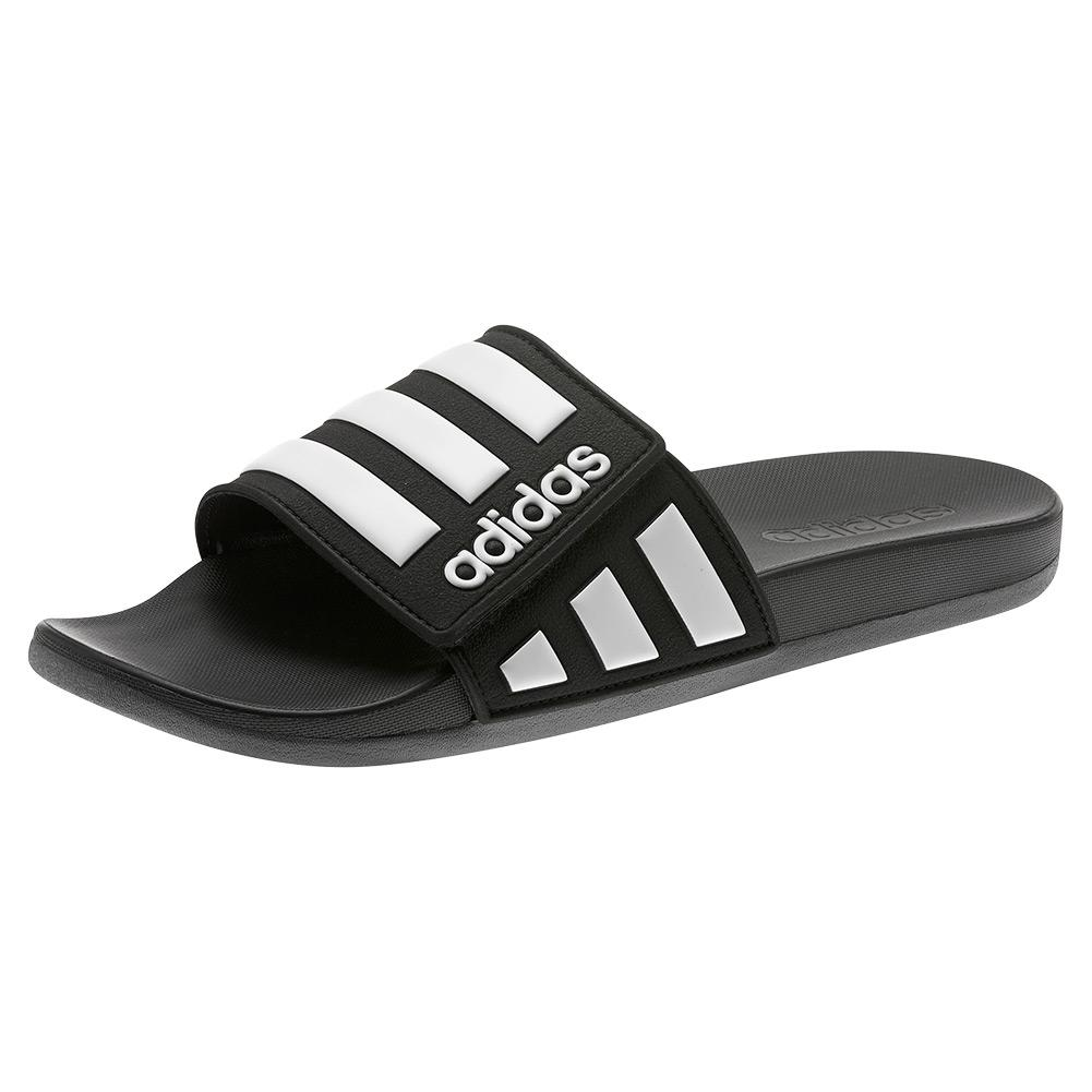 Men's Adilette Comfort Adjustable Slides Core Black And White
