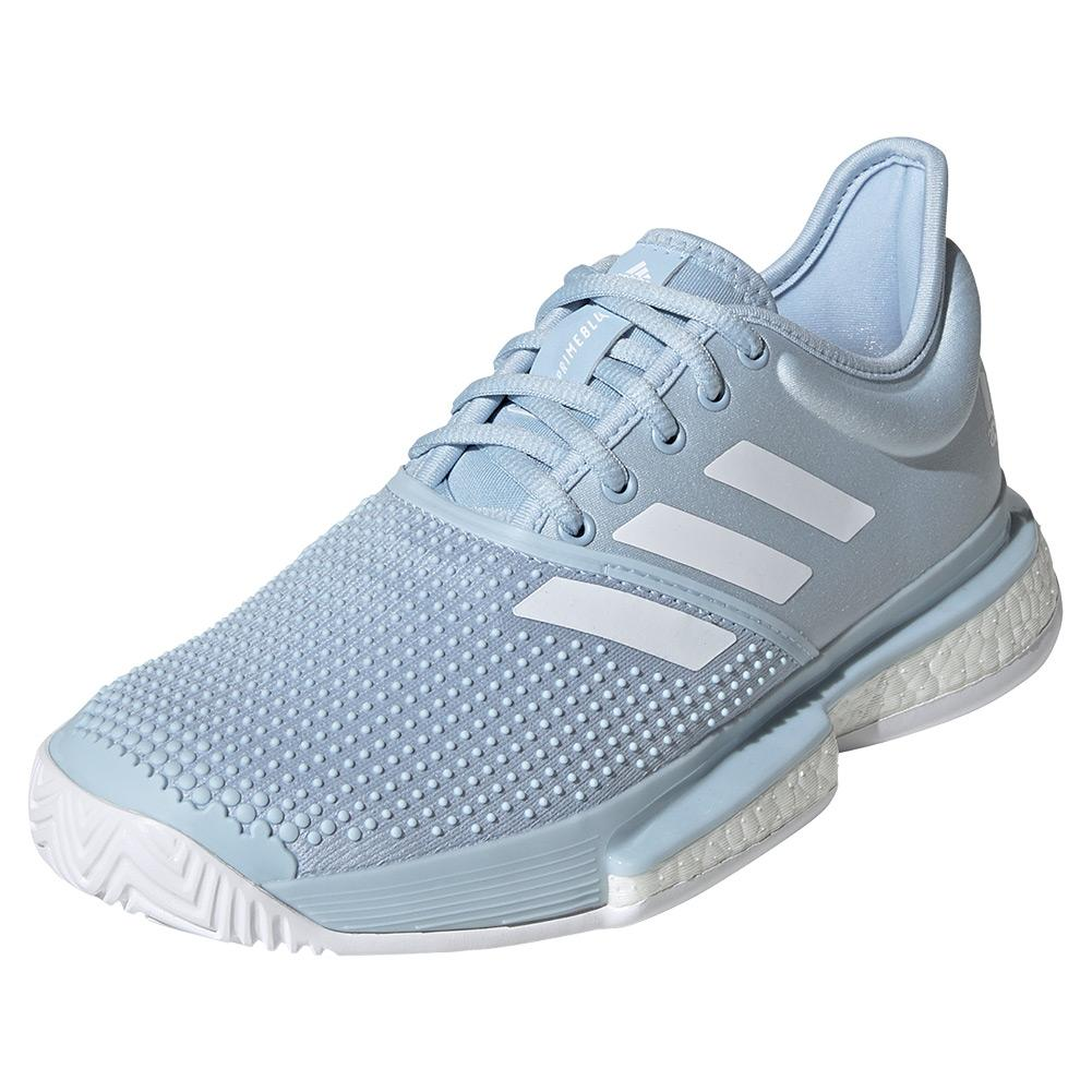 Women's Solecourt Boost Parley Tennis Shoes Easy Blue And White