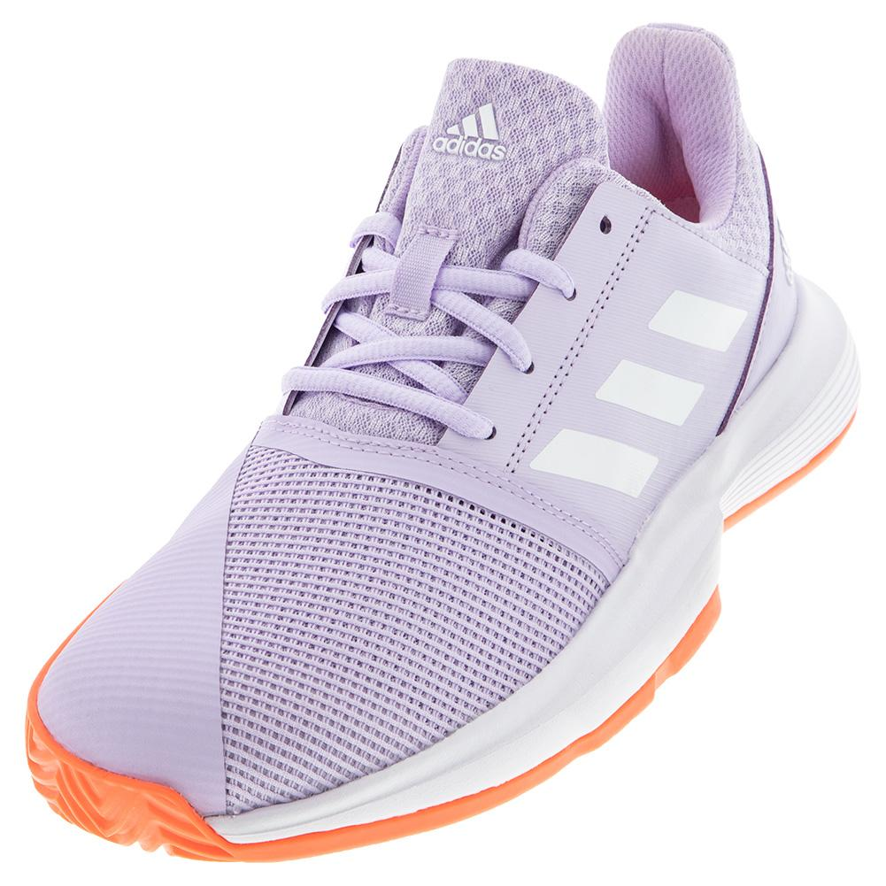 Juniors ` Courtjam Xj Tennis Shoes Purple Tint And White