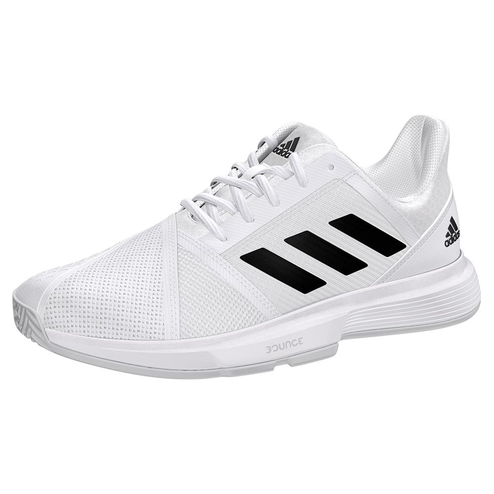 Women's Courtjam Bounce Wide Tennis Shoes White And Core Black