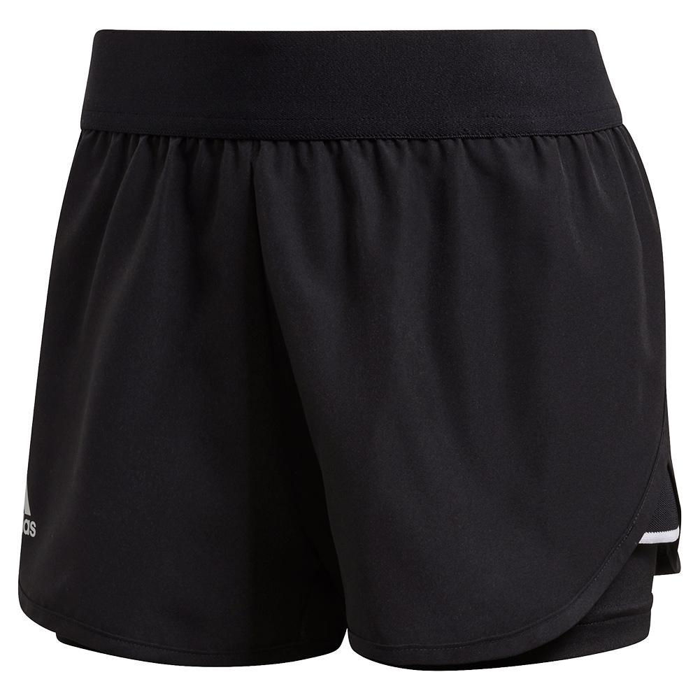 Adidas Women's Club 2.5 Inch Tennis Shirt in Black and Matte ...