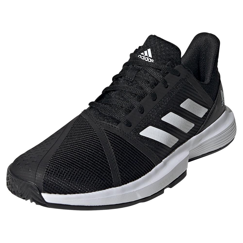 Men's Courtjam Bounce Tennis Shoes Black And White