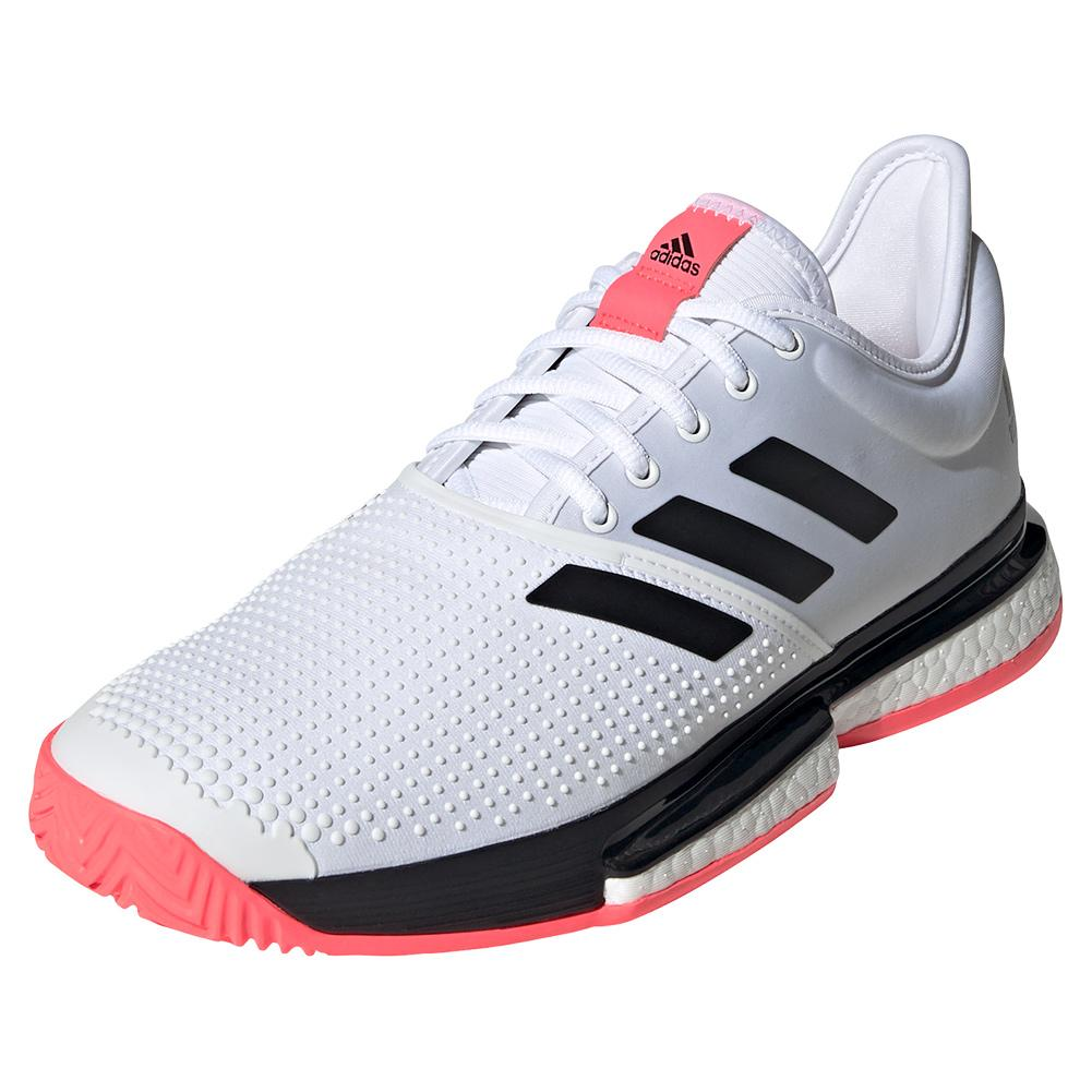 Men's Solecourt Boost Tennis Shoes White And Black