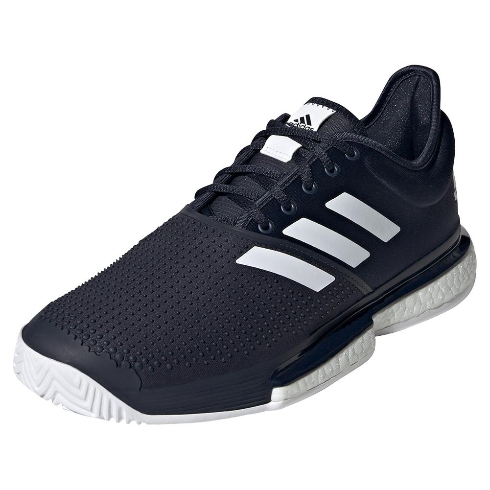 Men's Solecourt Boost Tennis Shoes Legend Ink And White