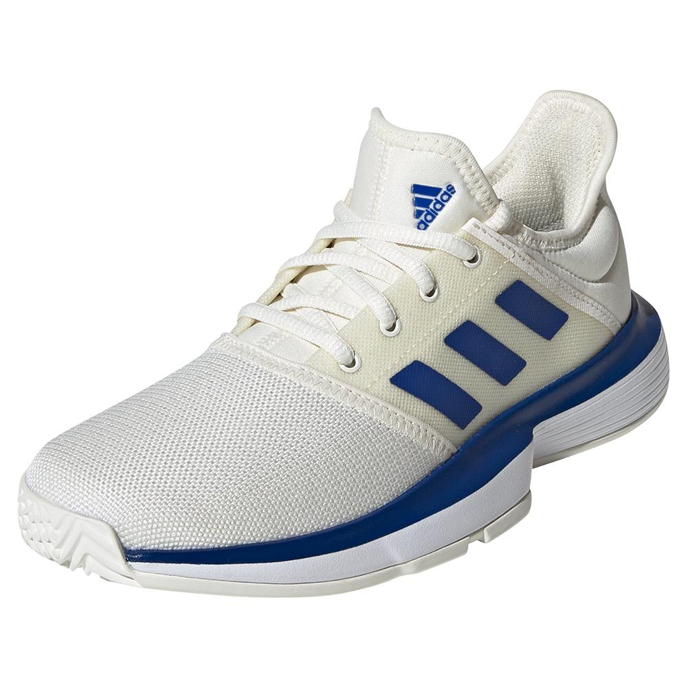 Juniors'solecourt Tennis Shoes Off White And Team Royal