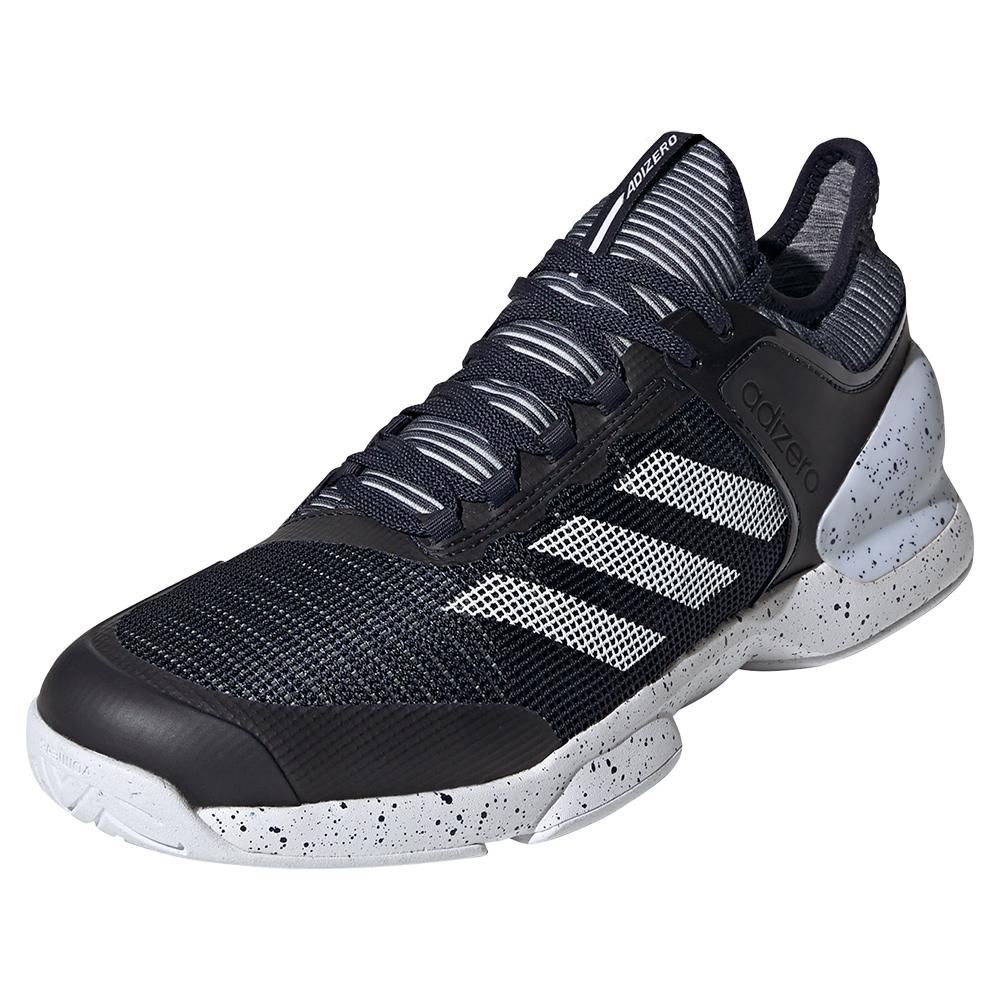 Men's Adizero Ubersonic 2 Tennis Shoes Legend Ink And White