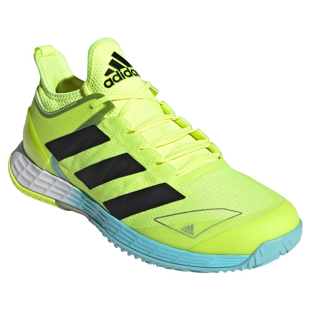 Men's Adizero Ubersonic 4 Tennis Shoes Solar Yellow And Core Black