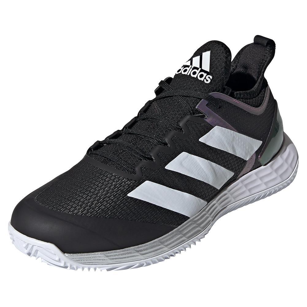 Men's Adizero Ubersonic 4 Clay Tennis Shoes Core Black And Footwear White