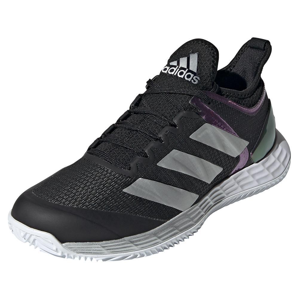 Women's Adizero Ubersonic 4 Tennis Shoes Core Black And Silver Metallic
