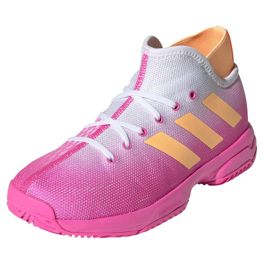 Juniors ` Phenom Tennis Shoes Screaming Pink And Acid Orange