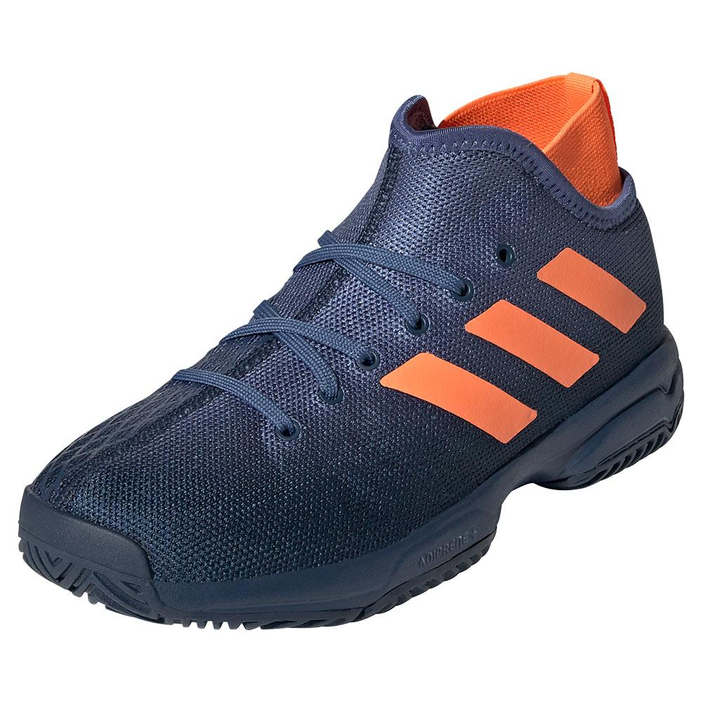 Juniors ` Phenom Tennis Shoes Crew Navy And Screaming Orange