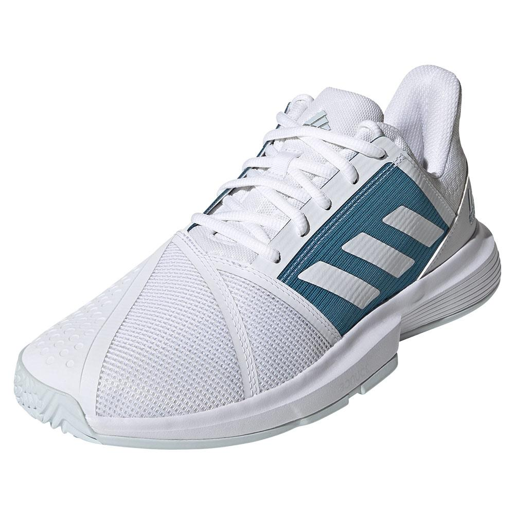 Men's Courtjam Bounce Tennis Shoes Footwear White And Hazy Blue