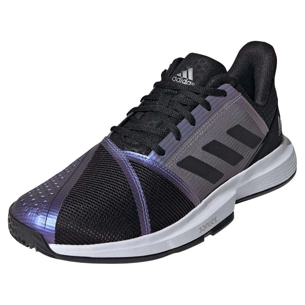 Men's Courtjam Bounce Tennis Shoes Core Black And Grey Two