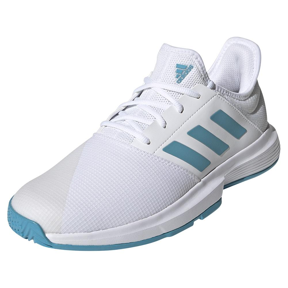 Men's Gamecourt Tennis Shoes Footwear White And Hazy Blue