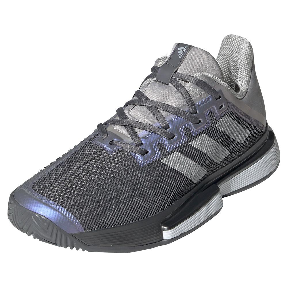 Women's Solematch Bounce Tennis Shoes Grey Four And Silver Metallic