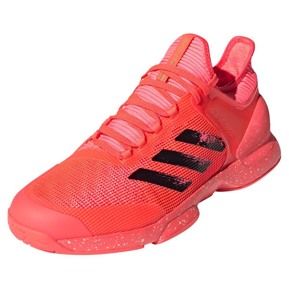 Men's Adizero Ubersonic 2 Tennis Shoes Signal Pink And Black