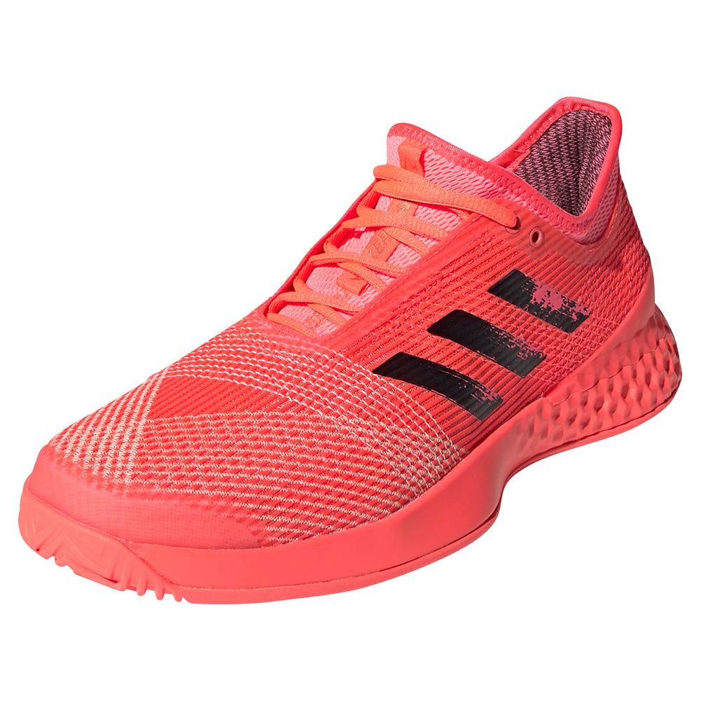 Men's Adizero Ubersonic 3 Tennis Shoes Signal Pink And Black