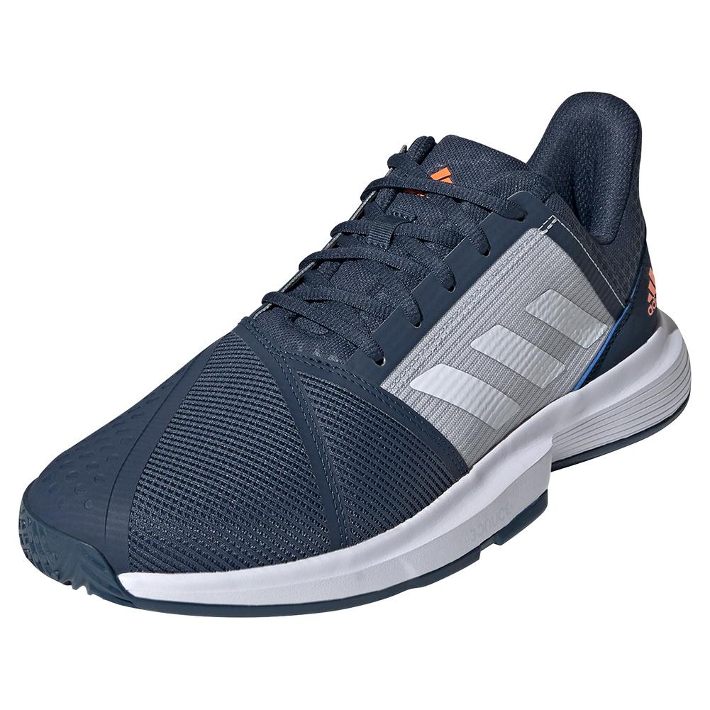 Men's Courtjam Bounce Tennis Shoes Crew Navy And Footwear White