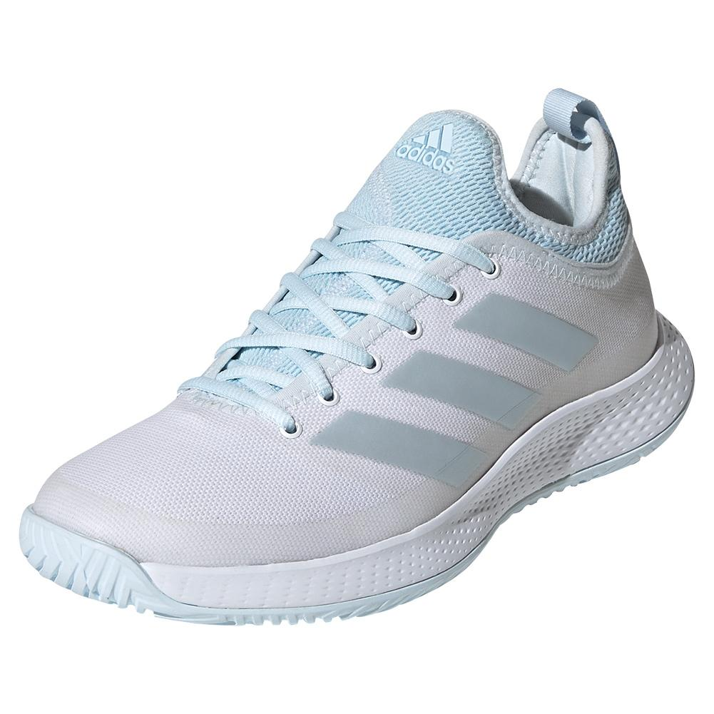 Women's Defiant Generation Tennis Shoes White And Sky Tint