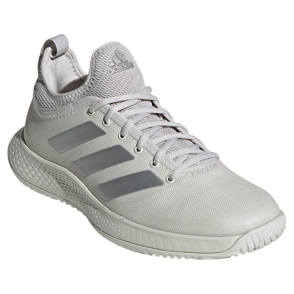 Women's Defiant Generation Tennis Shoes Orbit Gray And Silver Metallic
