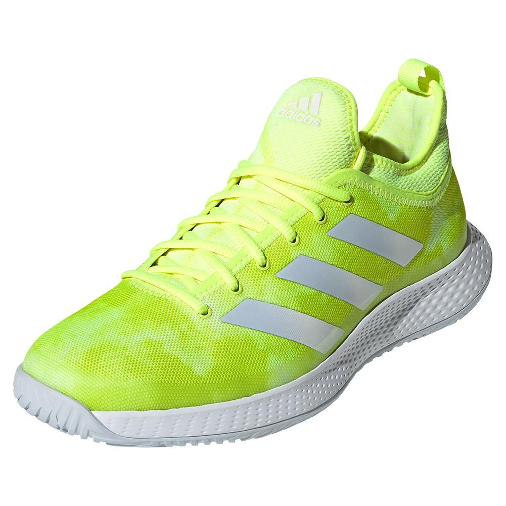 Men's Defiant Generation Tennis Shoes Solar Yellow And Halo Blue