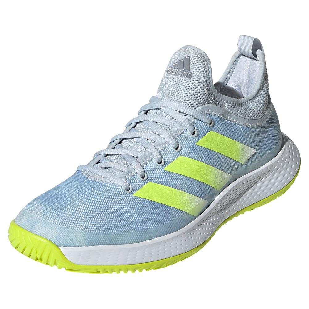 Women's Defiant Generation Tennis Shoes Halo Blue And Solar Yellow