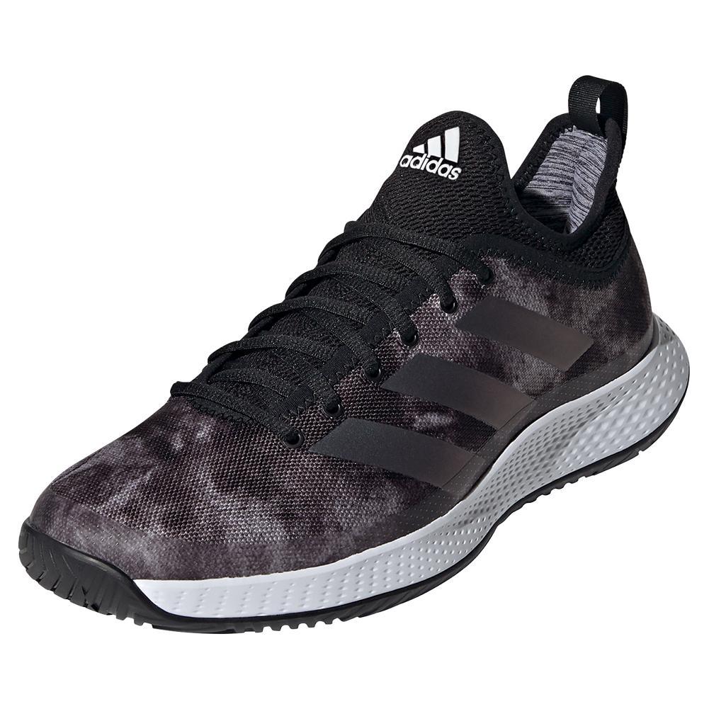 Men's Defiant Generation Tennis Shoes Core Black And Grey Five