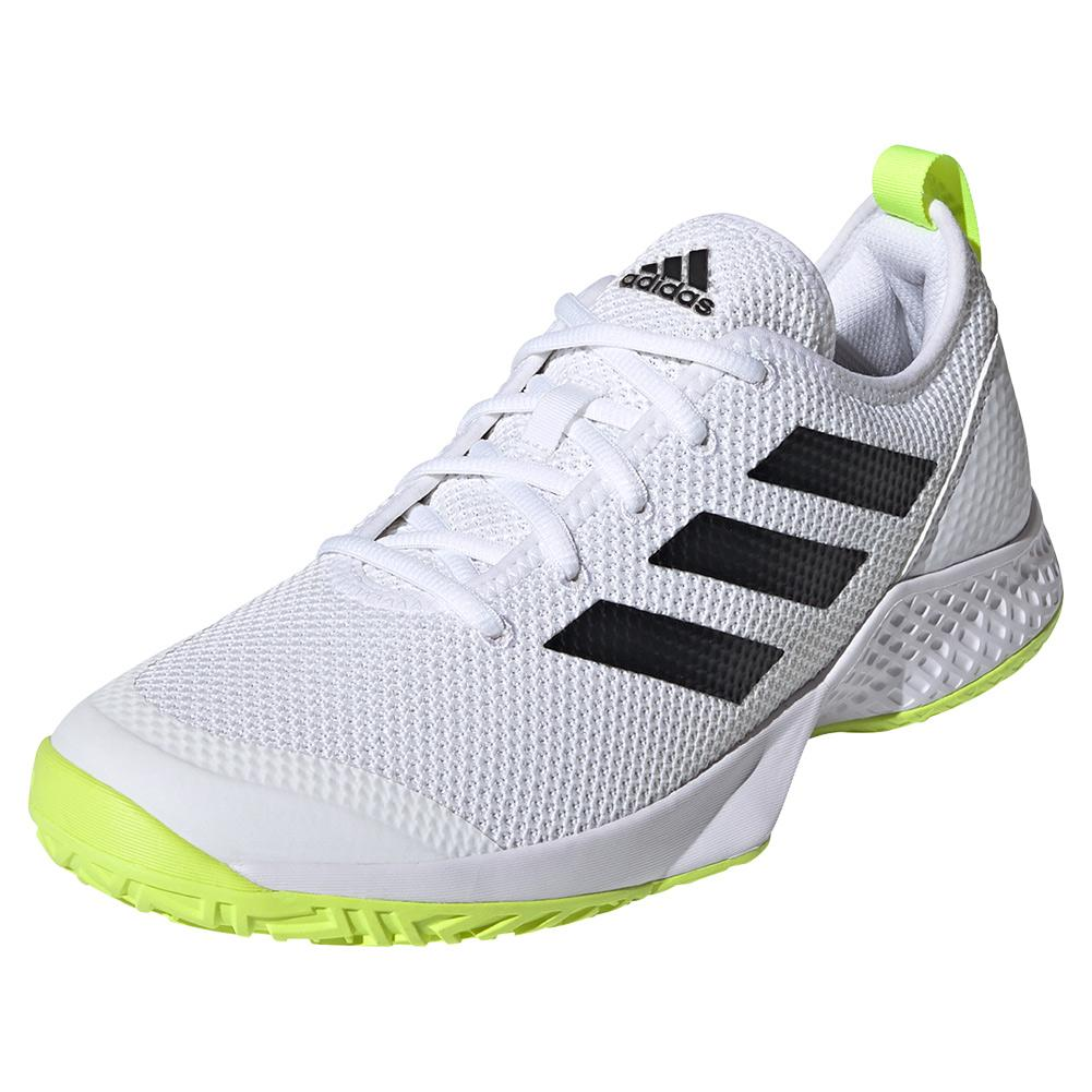 Men's Court Control Tennis Shoes Footwear White And Core Black