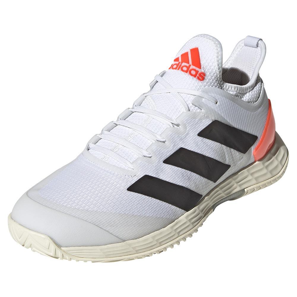 Men's Adizero Ubersonic 4 Tennis Shoes White And Core Black