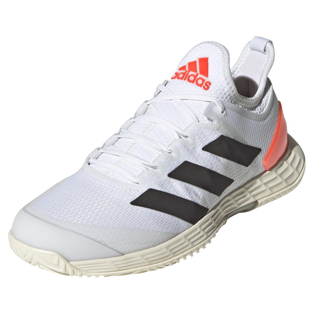 Women's Adizero Ubersonic 4 Tennis Shoes White And Core Black
