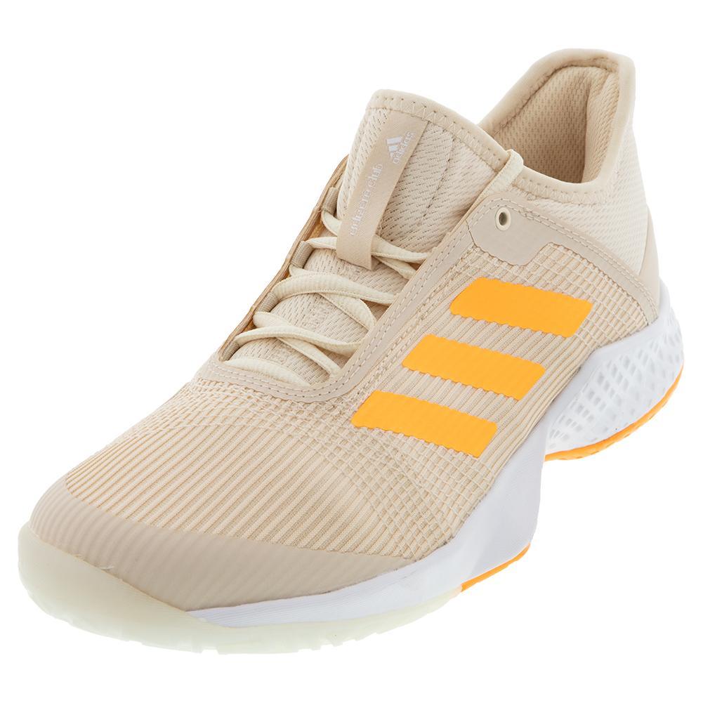 Women's Adizero Club 2 Tennis Shoes Linen And Flash Orange