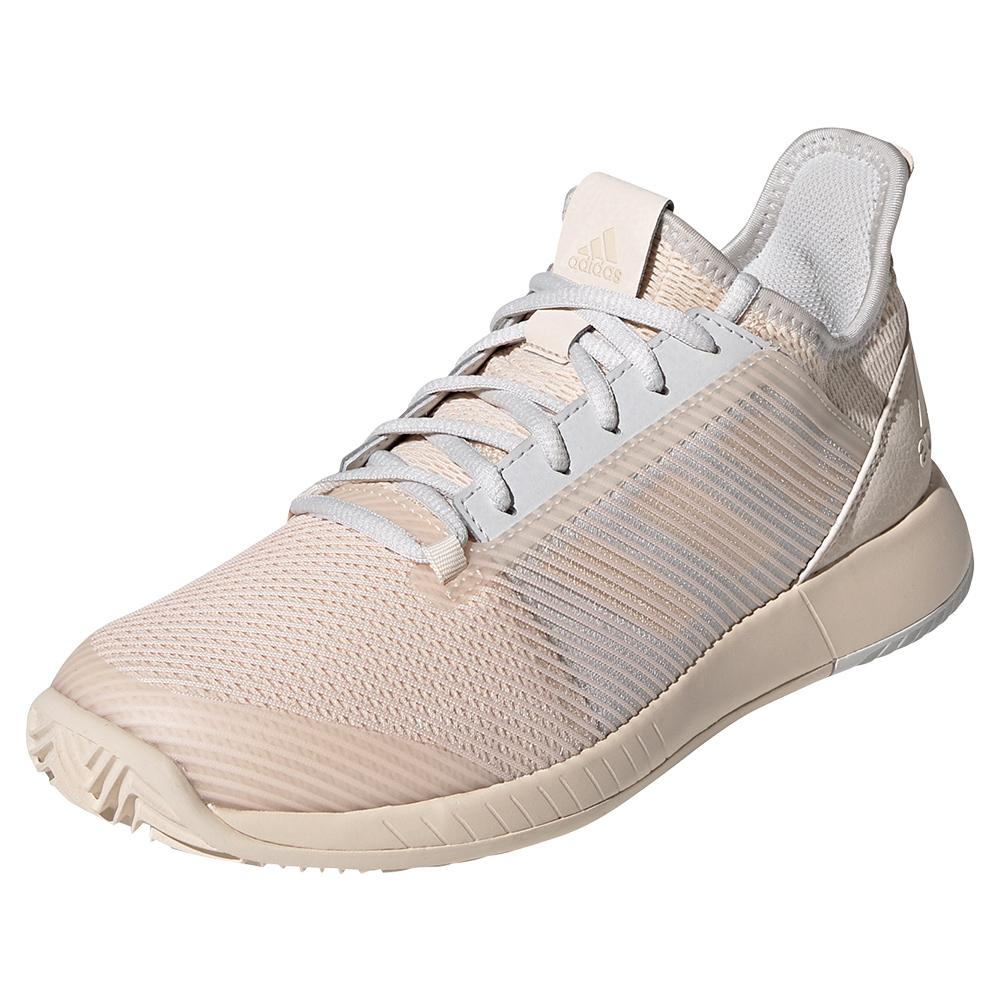 Women's Adizero Defiant Bounce 2 Tennis Shoes Linen And Gray One