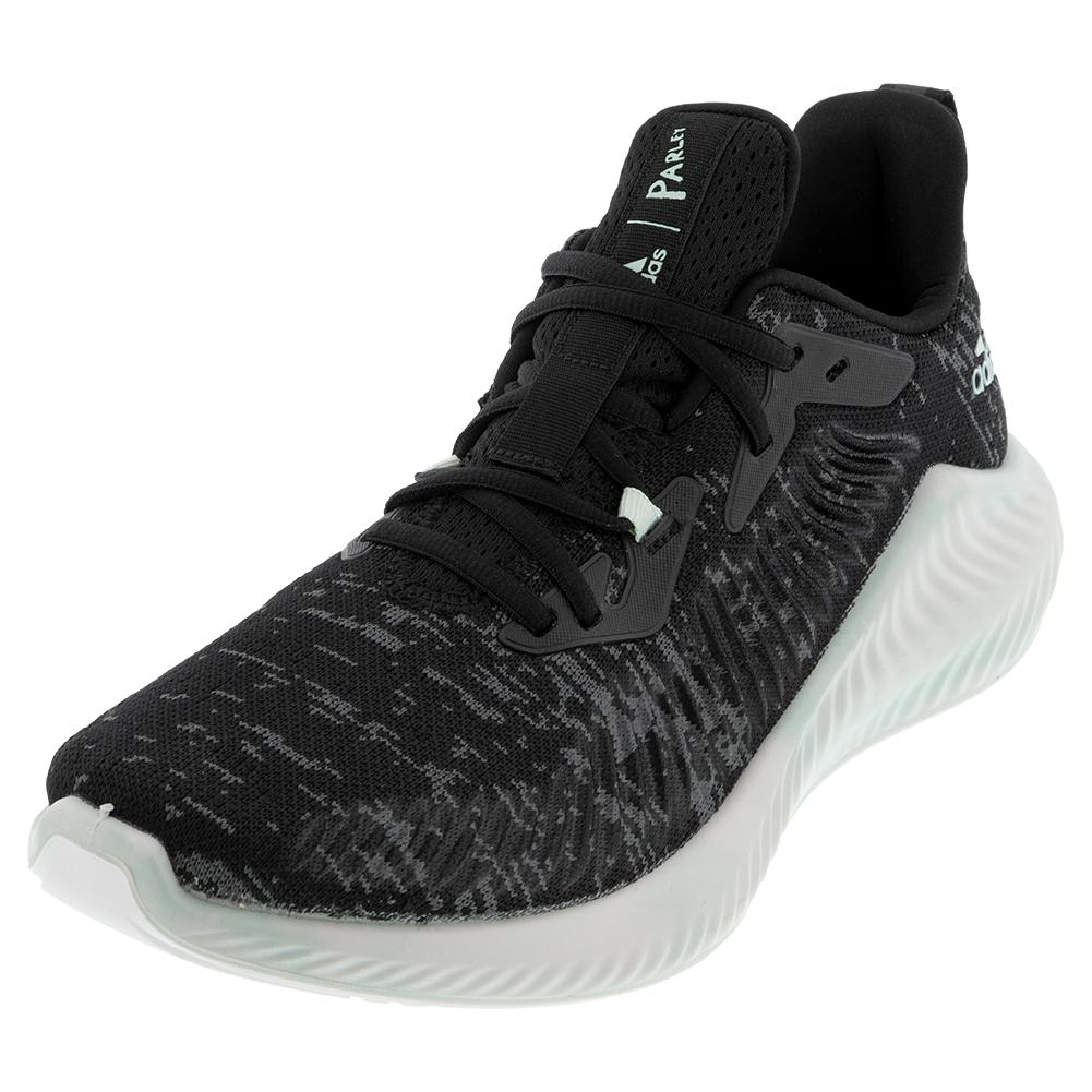 Men's Alphabounce + Parley Running Shoes Core Black And Linen Green