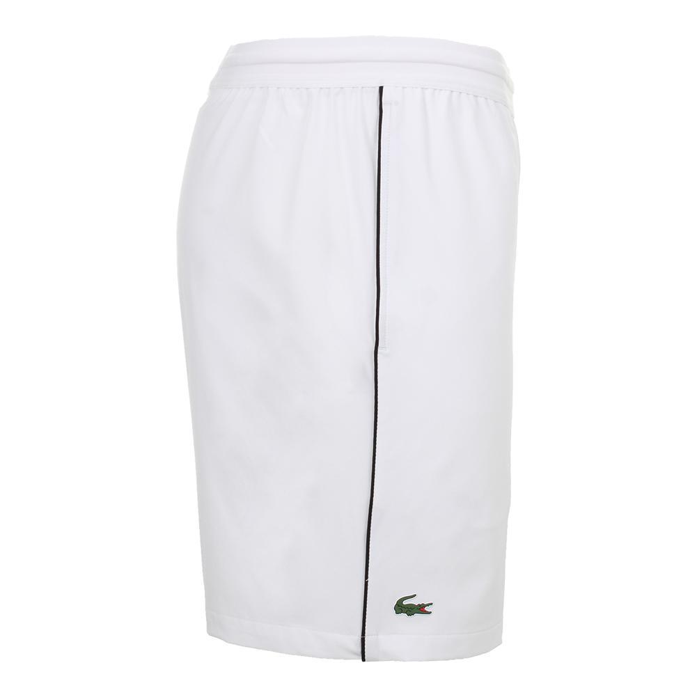 368d1b2f5 Men`s Novak Djokovic 7 Inch Stretch Woven Tennis Short AU8 WHITE BLACK