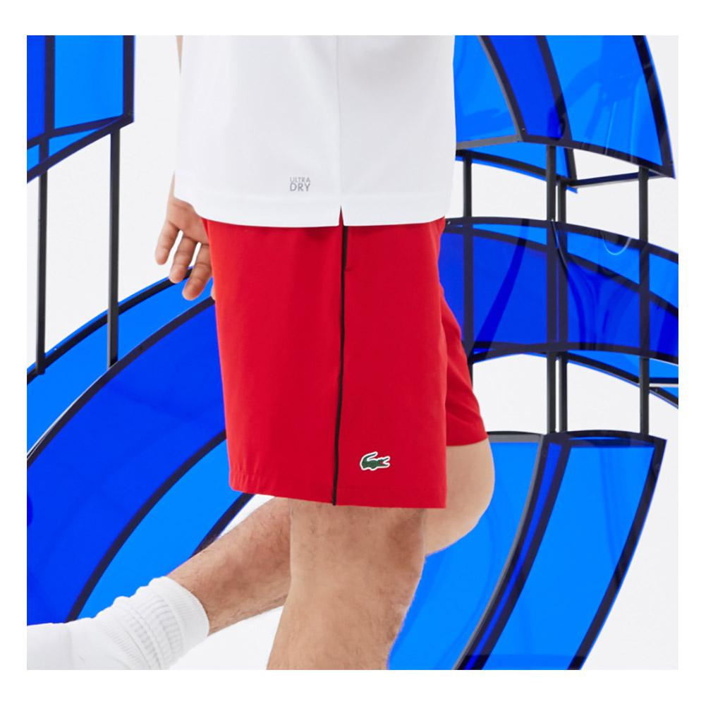 6529c555aea Men`s Novak Djokovic 7 Inch Stretch Woven Tennis Short PRZ MARINO BLACK