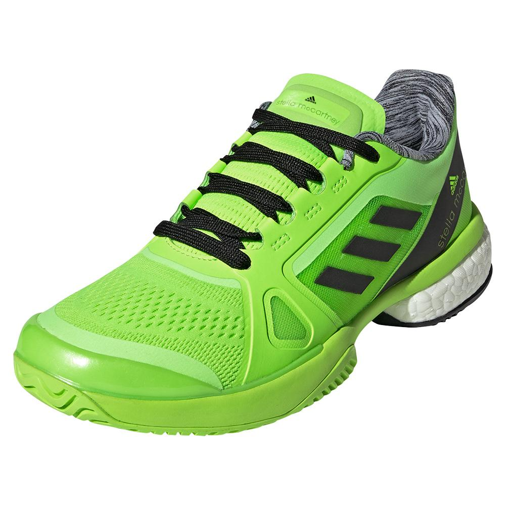 Women's Stella Court Tennis Shoes Signal Green And Core Black