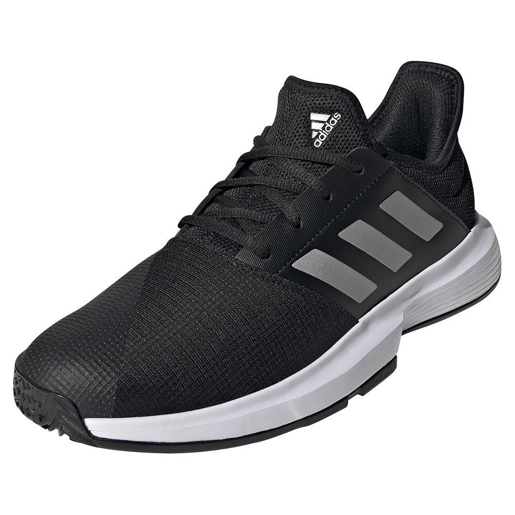 Men's Gamecourt Tennis Shoes Core Black And Matte Silver