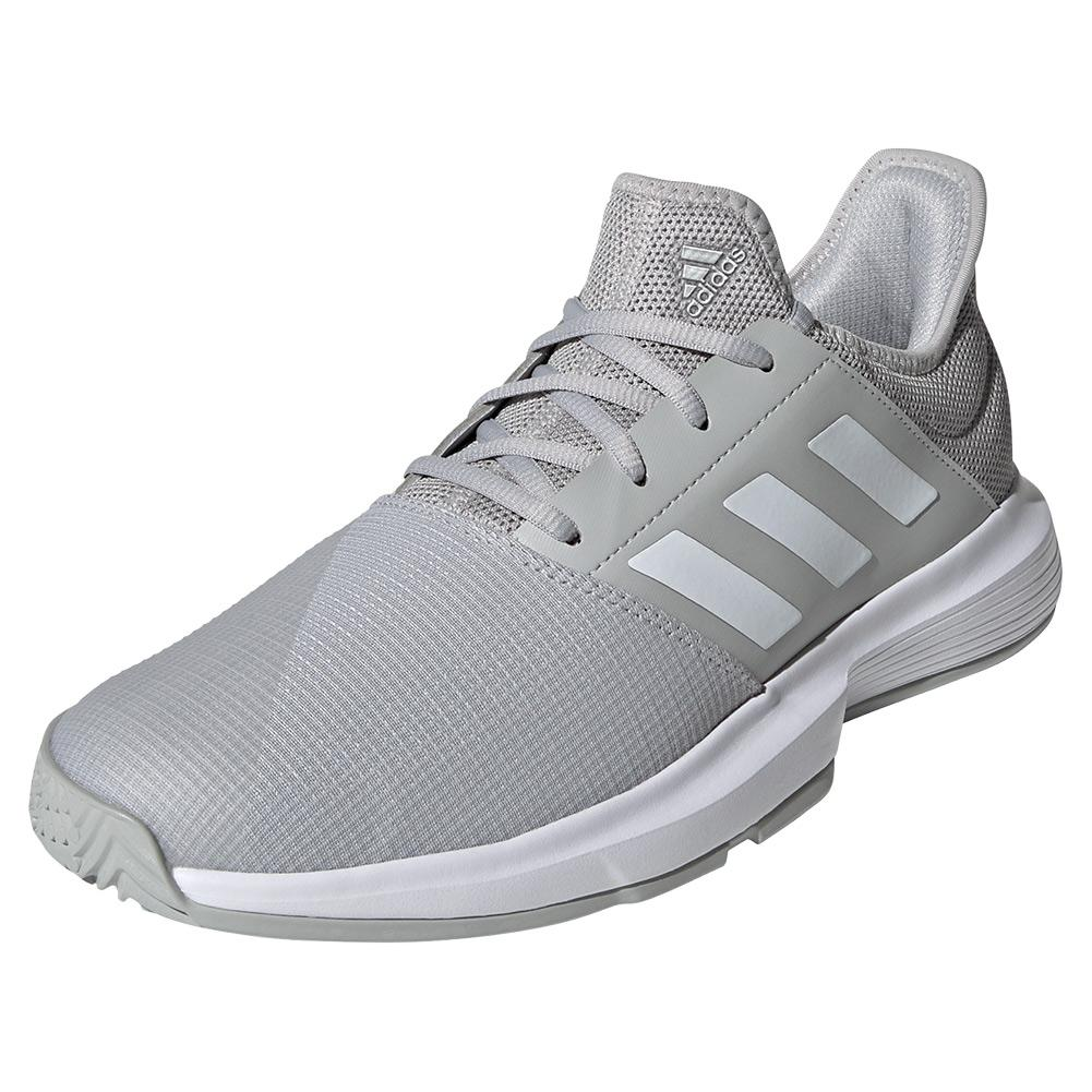Men's Gamecourt Tennis Shoes Grey Two And White