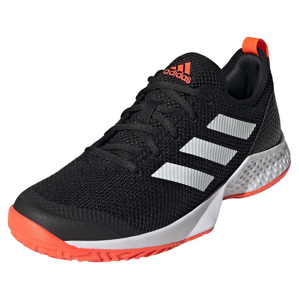 Men's Court Control Tennis Shoes Core Black And White