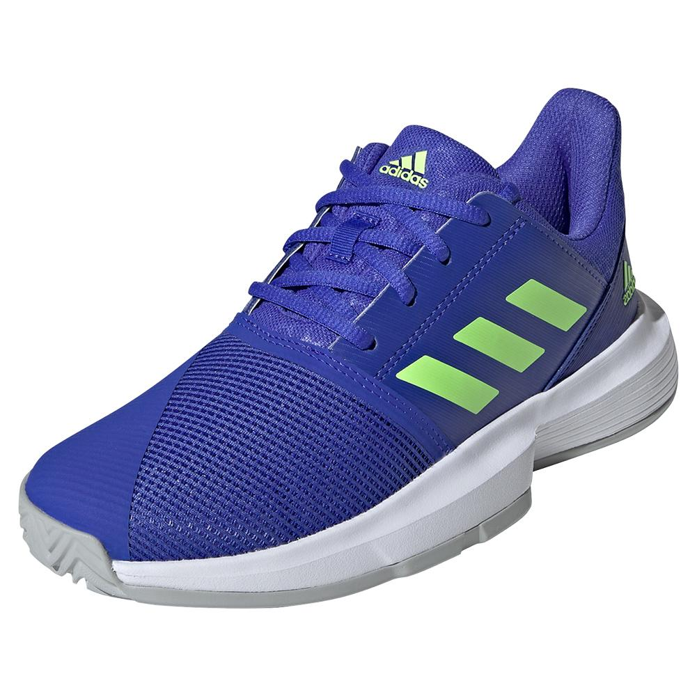 Juniors ` Courtjam Xj Tennis Shoes Sonic Ink And Signal Green